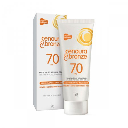 Protetor Solar Facial Cenoura & Bronze FPS70