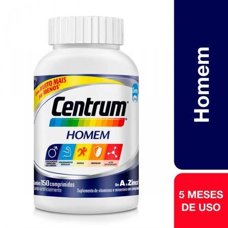 Suplemento Vitamínico-Mineral Centrum Homem com 150 comprimidos