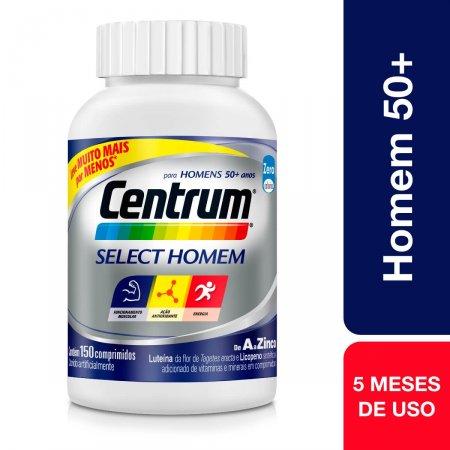 Suplemento Vitamínico-Mineral Centrum Select Homem com 150 comprimidos