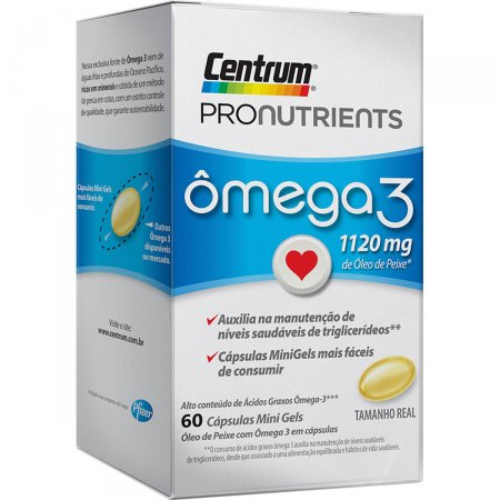 Centrum Pronutrients Omega 3 60 Cápsulas