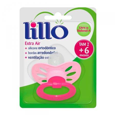 Chupeta de Silicone Lillo Extra Air Tamanho 2 Rosa