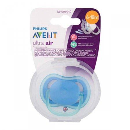 Chupeta Avent Ultra Air Azul 6 a 18 meses