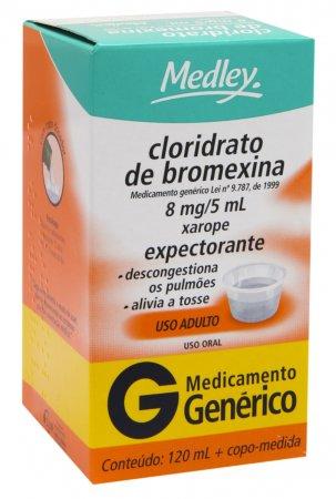 Cloridrato de Bromexina 8mg/5ml Medley Xarope com 120ml