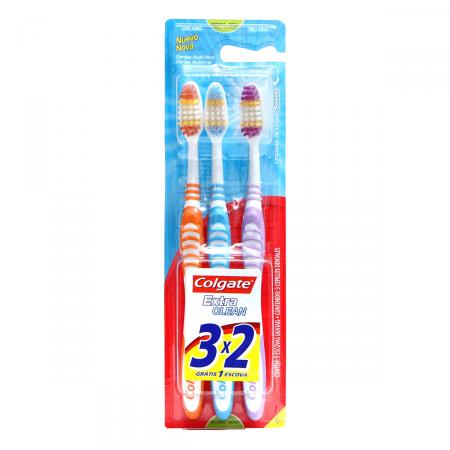 Escova Dental Colgate Extra Clean 3 Pague 2
