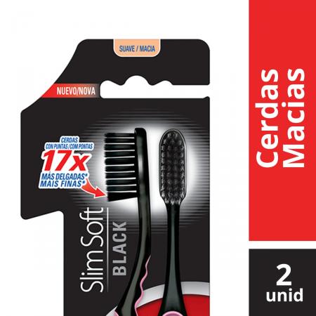 Escova Dental Colgate Slim Soft Black Leve 2 Pague 1