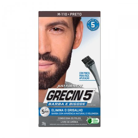 Color Gel Grecin 5 Barba e Bigode Preto
