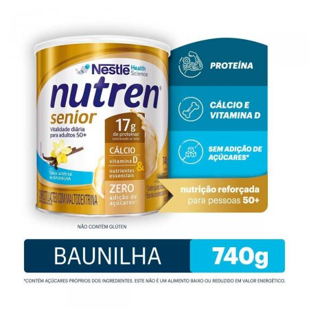 Suplemento Alimentar Nutren Senior Baunilha com 740g