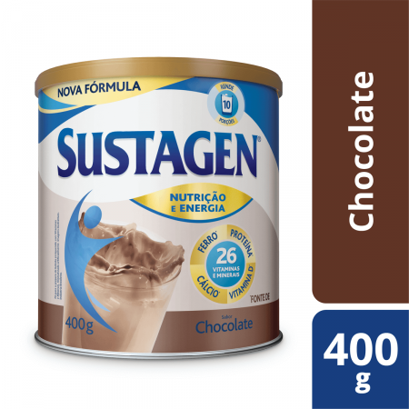 Sustagen Pó Chocolate 400g - Complemento Alimentar