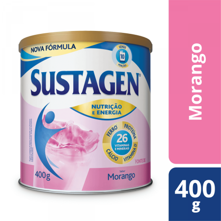 Sustagen Pó Morango 400g - Complemento Alimentar