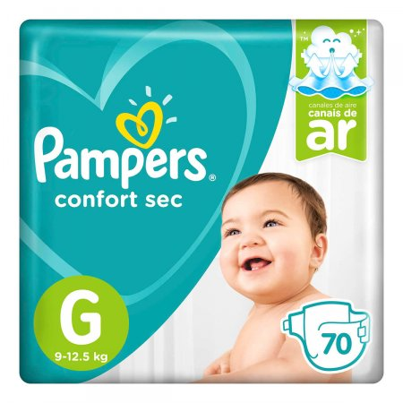 Fralda Pampers Confort Sec Giga Tamanho G 70 Unidades