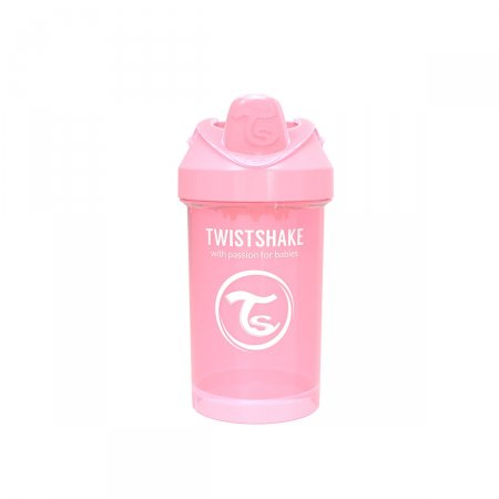 Copo de Treinamento Twistshake Crawler Cup Rosa 8+ Meses