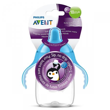 Copo Philips Avent Pinguim Azul 340ml
