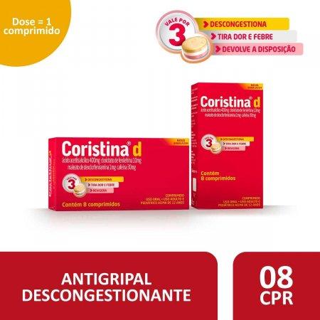 Coristina D com 8 Comprimidos