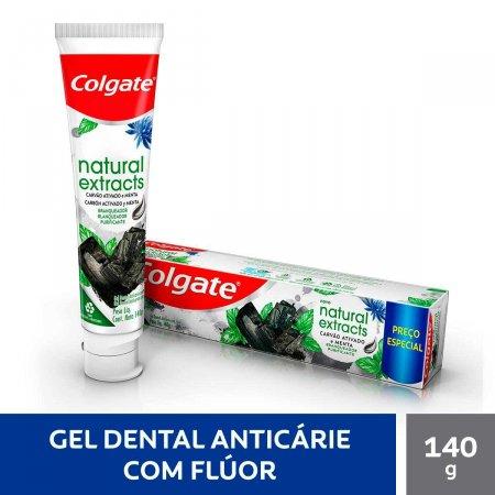 Creme Dental Colgate Natural Extracts Carvão Ativado e Menta com 140g   Foto 2