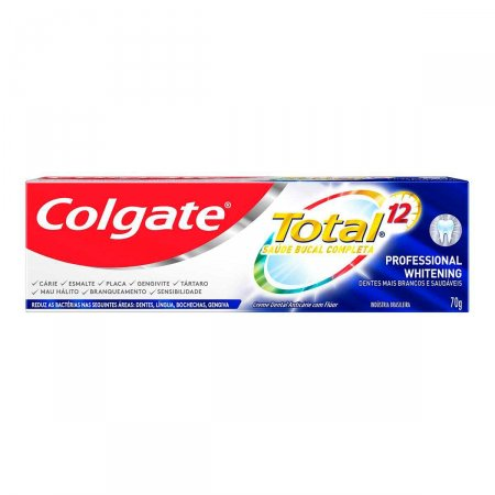 Creme Dental Colgate Total 12 Professional Whitening com 70g