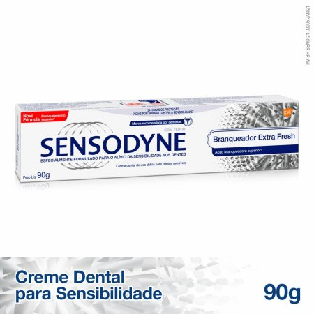 Pasta de Dente Sensodyne Branqueador Extra Fresh para Dentes Sensíveis com 90g