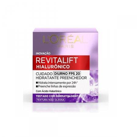 Creme Facial Anti-Idade L'oréal Revitalift Hialurônico Diurno FPS 20 com 50ml
