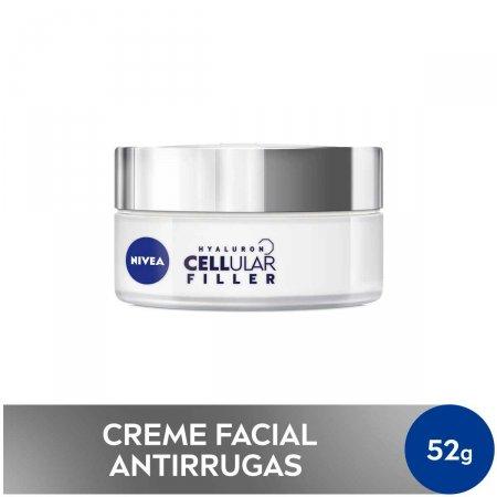 Creme Facial Antissinais Nivea Hyaluron Cellular Filler Dia FPS 30 com 50ml