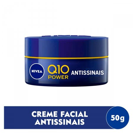 Creme Facial Antissinais Noite Nivea Q10 Power Plus Pele Normal a Seca com 50g