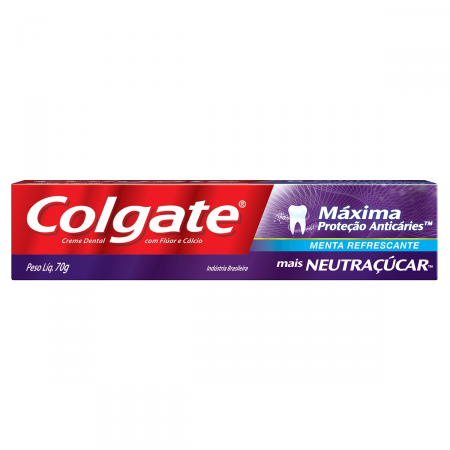 Creme Dental Colgate Máxima Proteção Anticáries Mais Neutraçucar com 70g