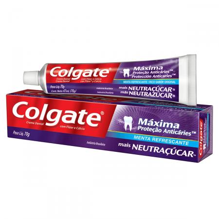 Creme Dental Colgate Máxima Proteção Anticáries + Neutraçucar 70g