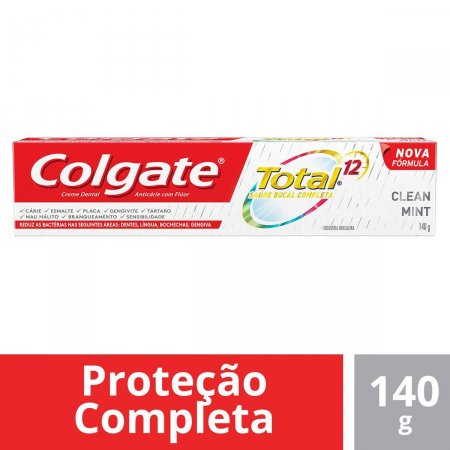 Creme Dental Colgate Total 12 Clean Mlint 140g |
