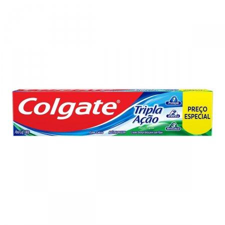Creme Dental Colgate Tripla Ação Menta Original Leve 180g Pague 140g   Drogaraia.com Foto 1