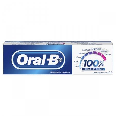 Creme Dental Oral-B com Flúor Menta Refrescante 70g