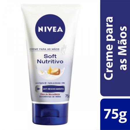 Creme Para Mãos Nivea Soft Nutritivo 75g