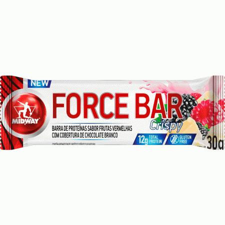 Barra de Proteina Force Bar Crispy Frutas Vermelhas
