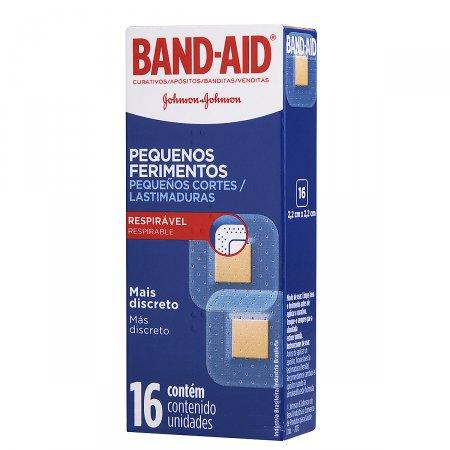 Curativo Band-Aid Pequenos Ferimentos 16 Unidades