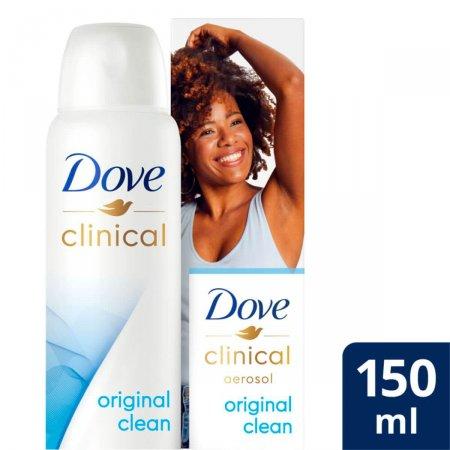 Desodorante Antitranspirante Aerosol Dove Clinical Original Clean com 150ml