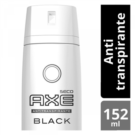 Desodorante Antitranspirante Aerosol AXE Black 152ml