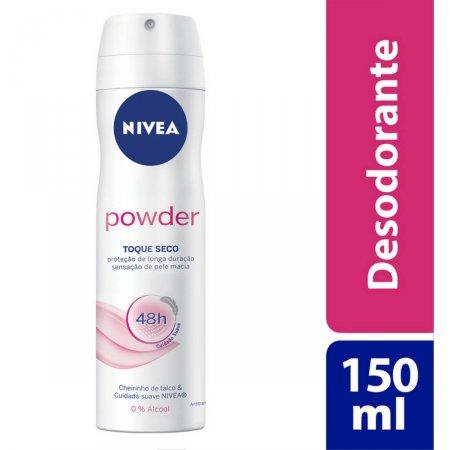 Desodorante Antitranspirante Aerosol Nivea Powder Toque Seco