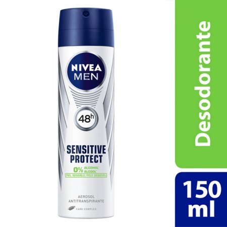 Desodorante Aerosol Nivea For Men Sensitive Protect 90g