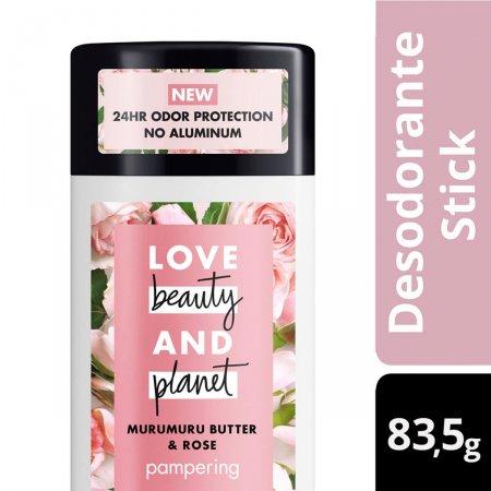 Desodorante Stick Love Beauty And Planet Manteiga de Murumuru & Rosa com 83,5g