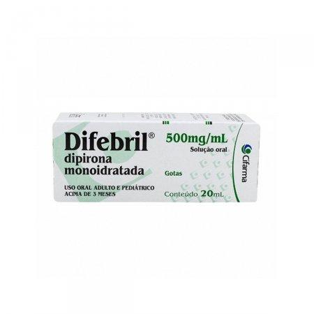 Difebril 500mg/ml Solução em Gotas com 20ml