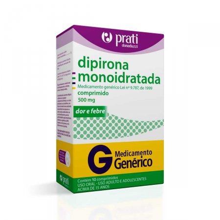 Dipirona Monoidratada 500mg com 10 Comprimidos Prati Donaduzzi |