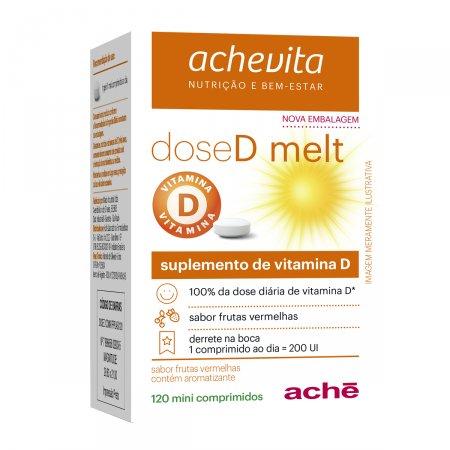 Suplemento de Vitamina D DoseD Melt 200UI com 120 comprimidos