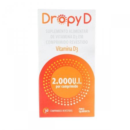 Vitamina D Dropy D 2.000UI com 30 comprimidos