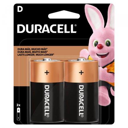 Pilha Duracell Alcalina Grande D 2 unidades