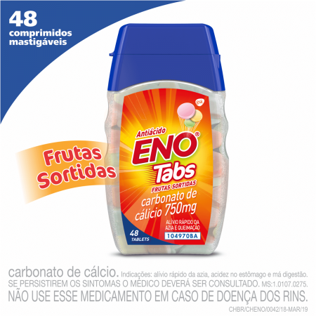 Sal de Fruta Eno Tabs Sabor Frutas com 48 tabletes