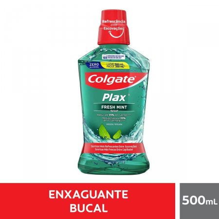 Enxaguante Bucal Colgate Plax Fresh Mint com 500ml