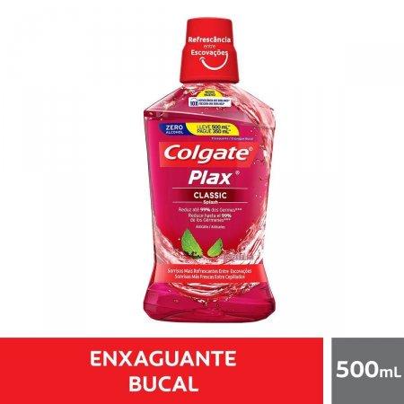 Enxaguante Bucal Plax Classic com 500ml