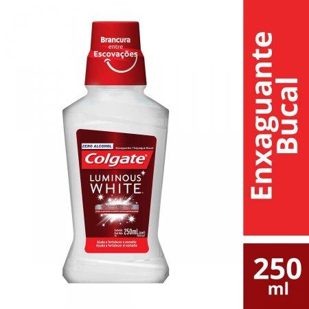Enxaguante Antisséptico Bucal Colgate Luminous White Sem Álcool com 250ml
