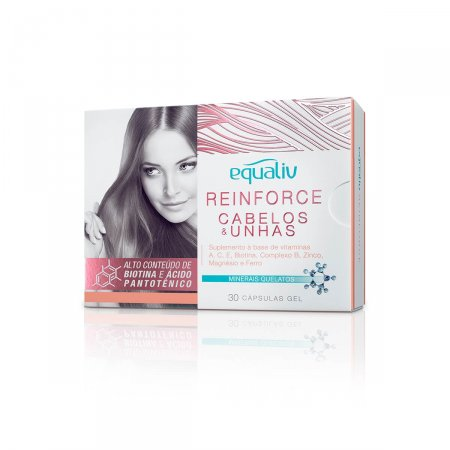 Suplemento Vitamínico Equaliv Reinforce Cabelos & Unhas com 30 cápsulas