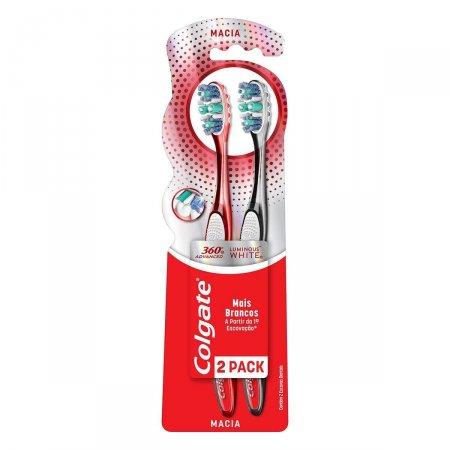 Escova Dental Colgate 360º Luminous White com 2 Unidades