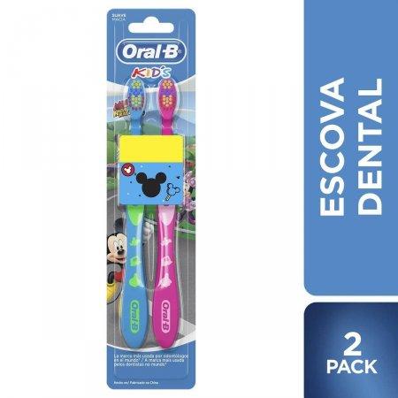 Kit Escova Dental Oral B Kids Mickey