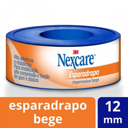Esparadrapo Impermeável Nexcare Bege 12mm x 3m