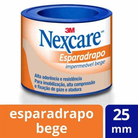 Esparadrapo Impermeável Nexcare Bege 25mmx0,9m